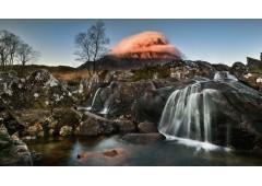 Etive Mor Waterfall sunrise