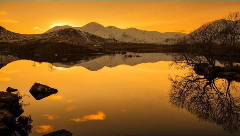 Loch Ba winter sunset
