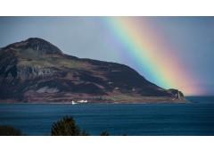 Holy Isle Lighthouse Rainbow